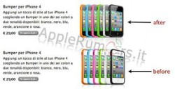 Screenshot of Italian Apple's site before and after . Source: Applerumors.it.