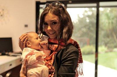 nina dobrev with her daughter Isabella