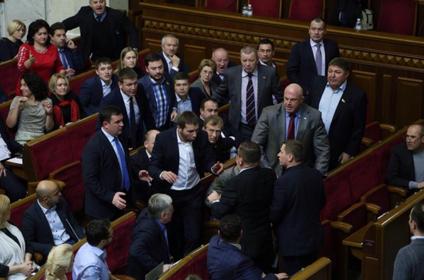 In Parliament there was a fight