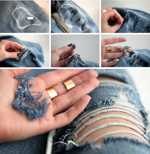 How to rip your jeans at home